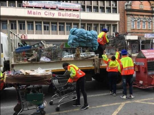 The municipality of Msunduzi confiscated shopping trolleys from street vendors in the CBD last week.