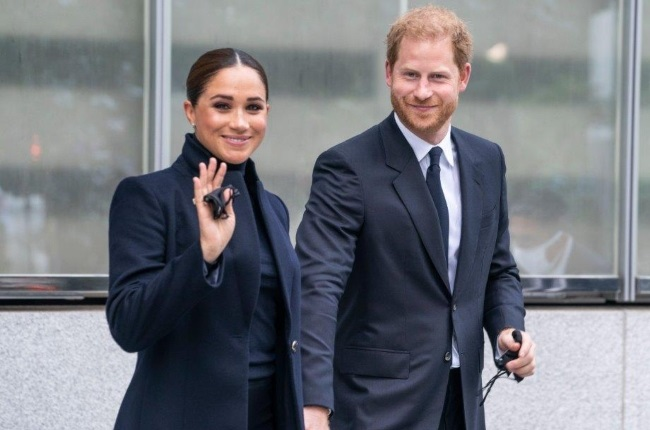 The Sussexes on their first day of their whirlwind three-day trip to the Big Apple. (PHOTO: Gallo Images/Getty Images)