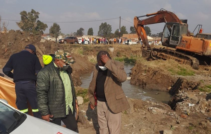 The body of the missing boy was found floating in a sewage pipe in Evaton. (Ntwaagae Seleka, News24)