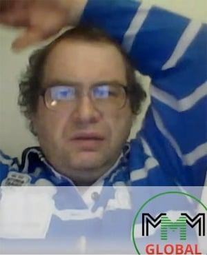 Russian convict and founder of MMM Sergey Mavrodi seen in his last video appearance on March 20.