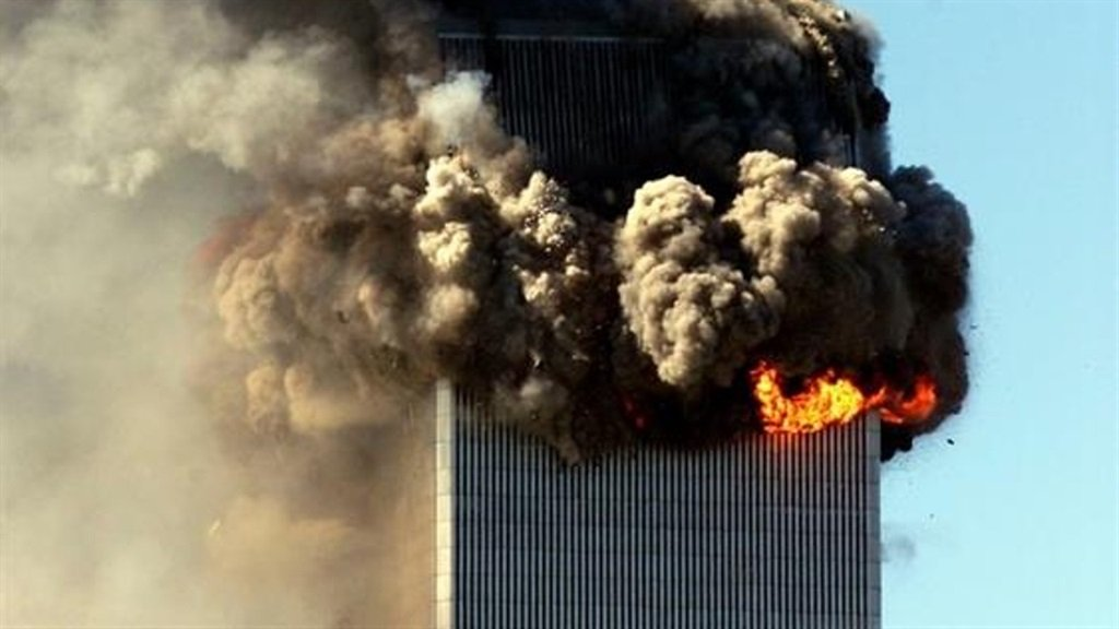 One of Twin Towers hit during the 9/11 attacks. (PHOTO: Gallo Images/Getty Images)