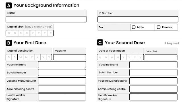 Vaccine certificate design