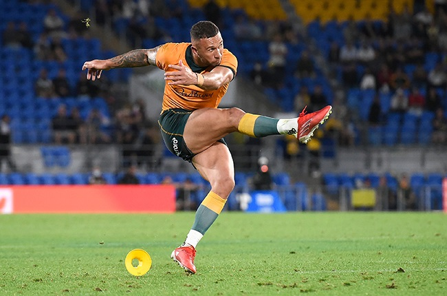 Quade Cooper... Australia's hero with 23 points off the boot... (Photo by Matt Roberts/Getty Images)