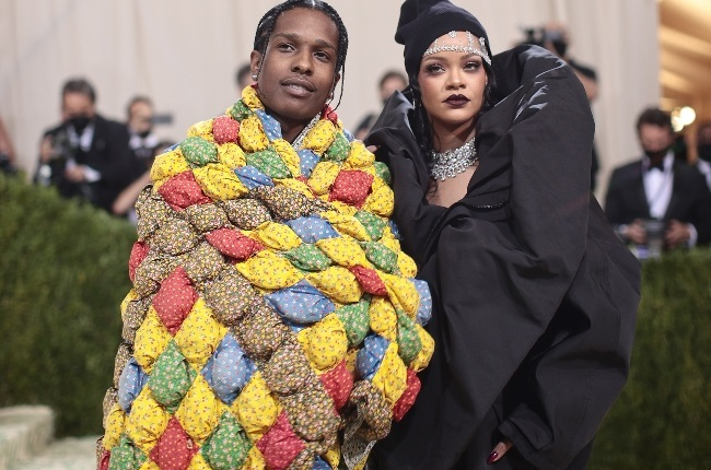 ASAP rocky and Rihanna attend the Met Gala together.