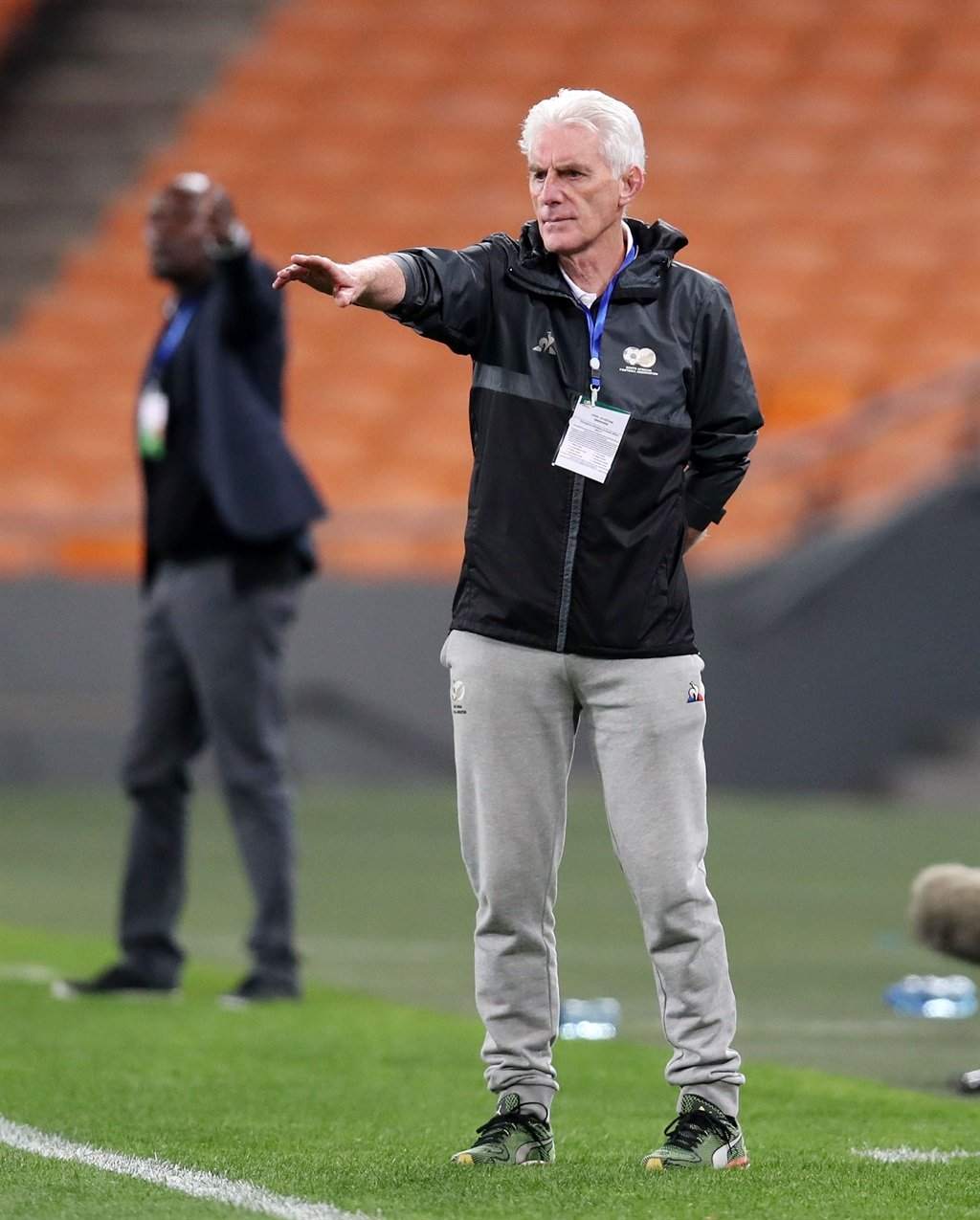Hugo Broos, coach of South Africa during the 2022
