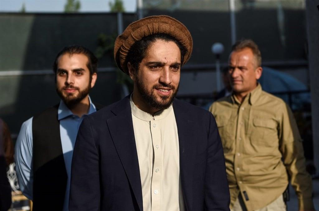 Ahmad Massoud (C), the son of late Afghan politici