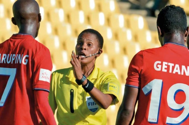 Akhona Makalima says that although a female referee is still looked down upon, she is determined to cement herself in the male dominated industry.