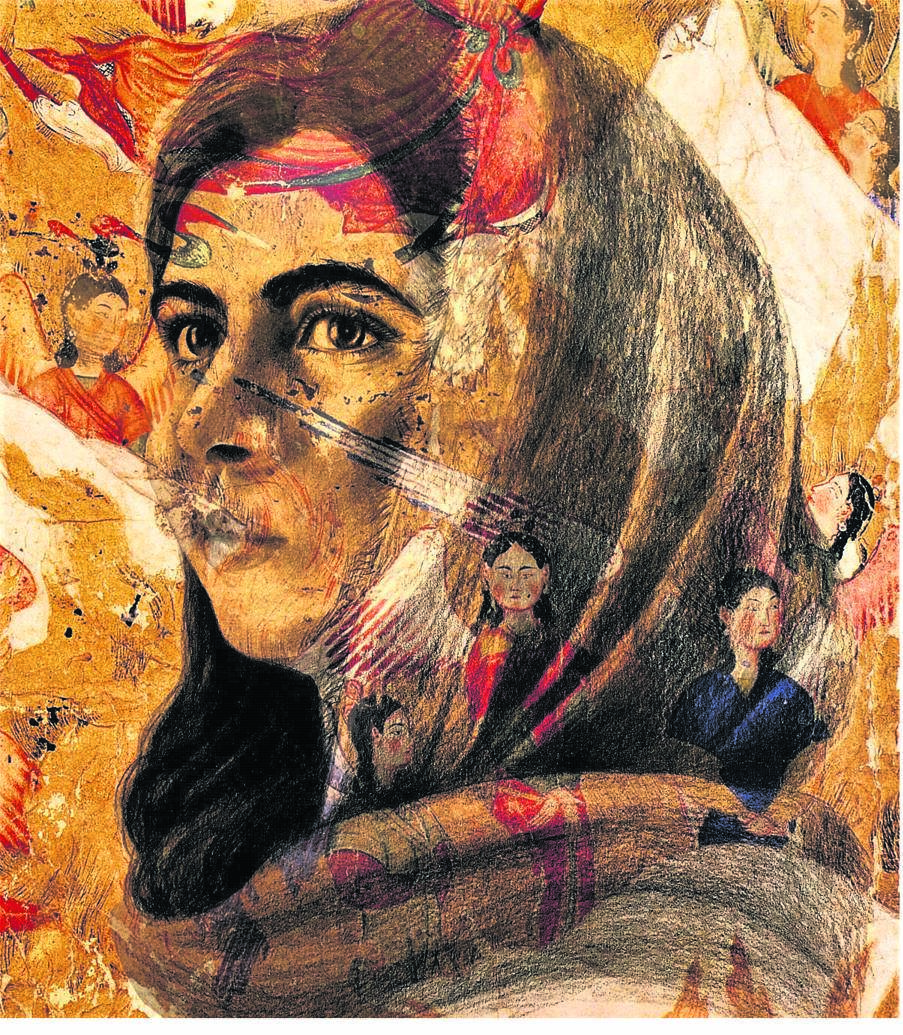 Shahzia Sikander is an internationally recognised multimedia artist and the first Pakistani-American to be inducted into the National Portrait Gallery of the Smithsonian Institution. This artwork is her portrait of Malala Yousafzai, 2018. ARTWORK: © Shahzia Sikander