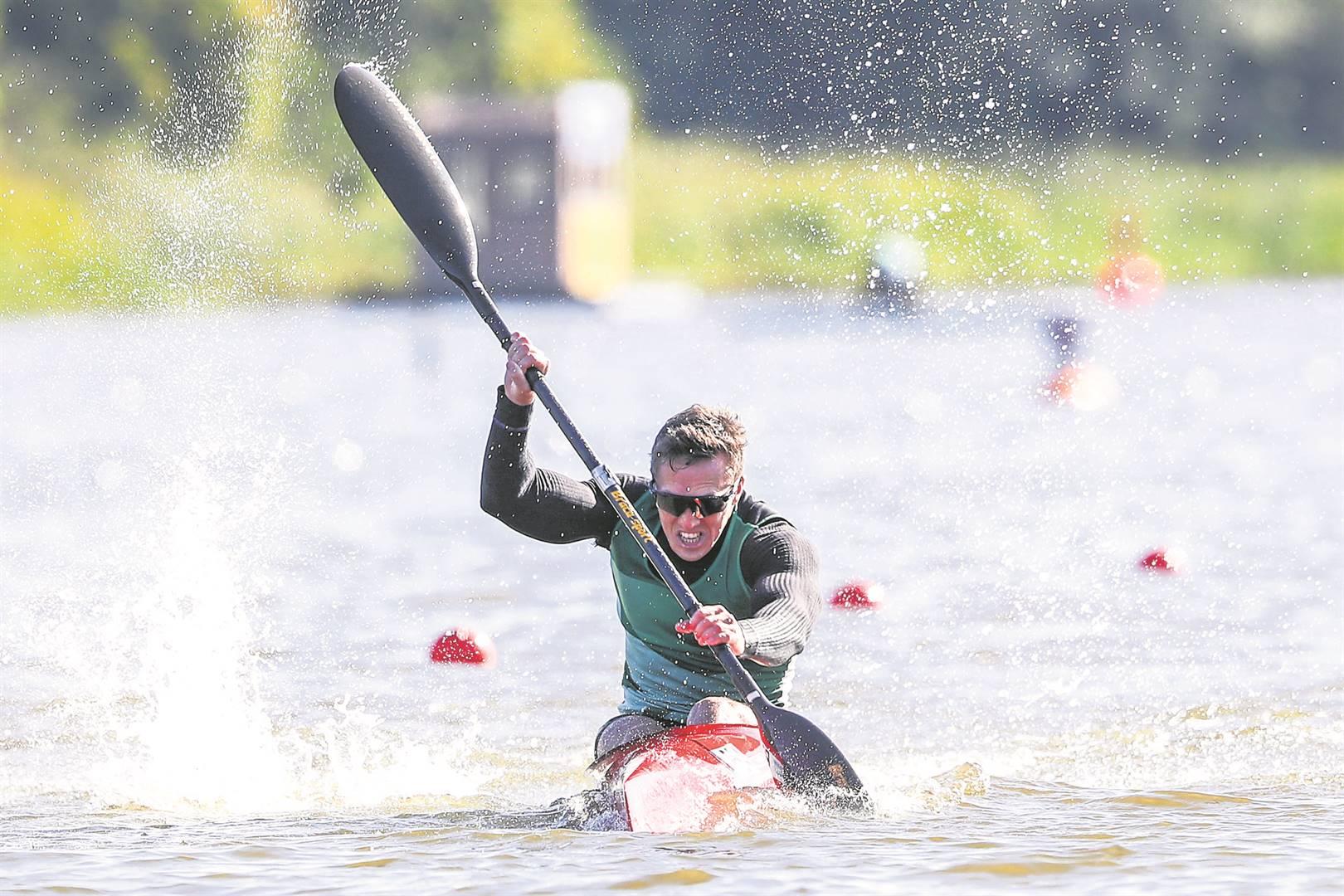 South African sprint canoeist Chrisjan Coetzee.