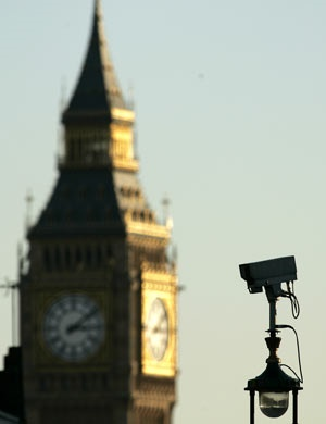 CCTV camera in London. (AP)