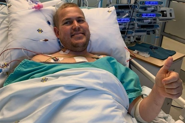 Johan van Wyk is the first person in South Africa to receive the Abbott HeartMate3, a new mechanical heart device. (PHOTO: Supplied)