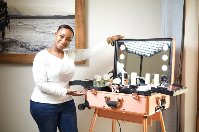 Kelebogile believes feeling beautiful from within reflects on the outside with or without makeup.