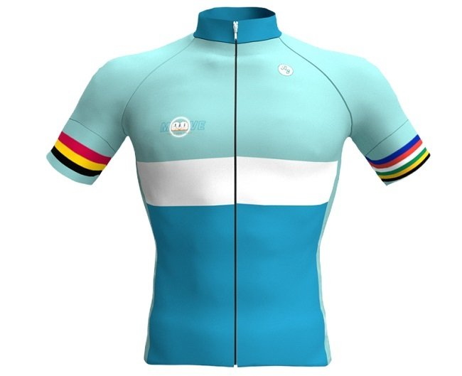 You can roll in this stylish new jersey and do your bit, for the Jagger Library (Photo: bicyclegear)