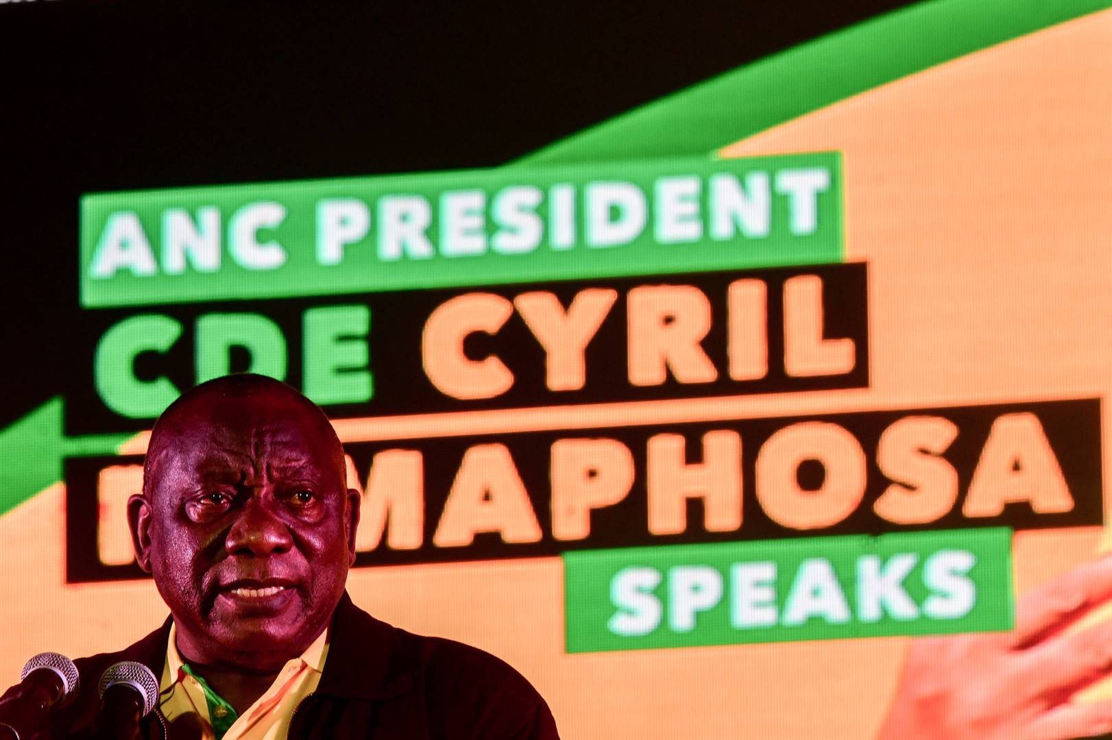 ANC president Cyril Ramaphosa appealed to voters to give the governing party another opportunity to rule in Tshwane. Photo: Rosetta Msimango