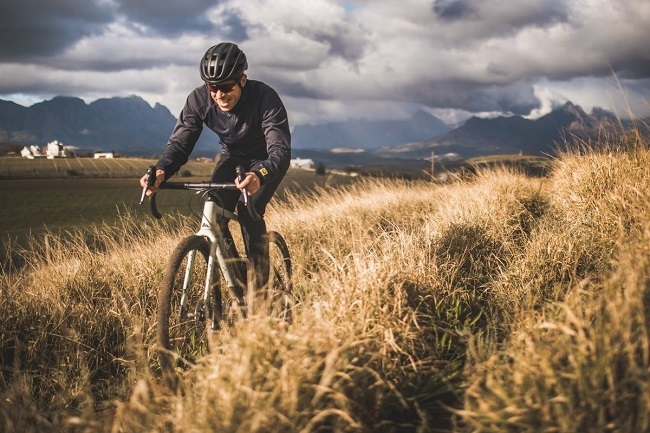 Erik Kleinhans in action on the Canyon Grizl, the German brand's gravel racing and adventure bike. (Photo by Ewald Sadie/Shift Media)