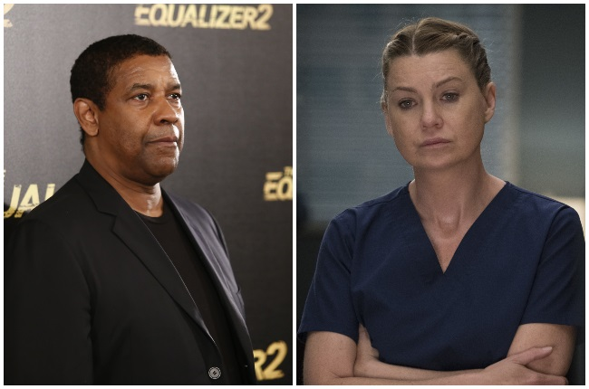 Oscar winner Denzel Washington directed an episode of the medical drama starring Ellen Pompeo. (PHOTO: Gallo Images / Getty Images, Disney - ABC Domestic Television)
