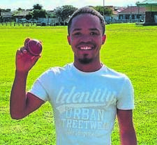Morné Daars of Strand CC won the man of the match award in his team's friendly against HHCC in Gordon's Bay.