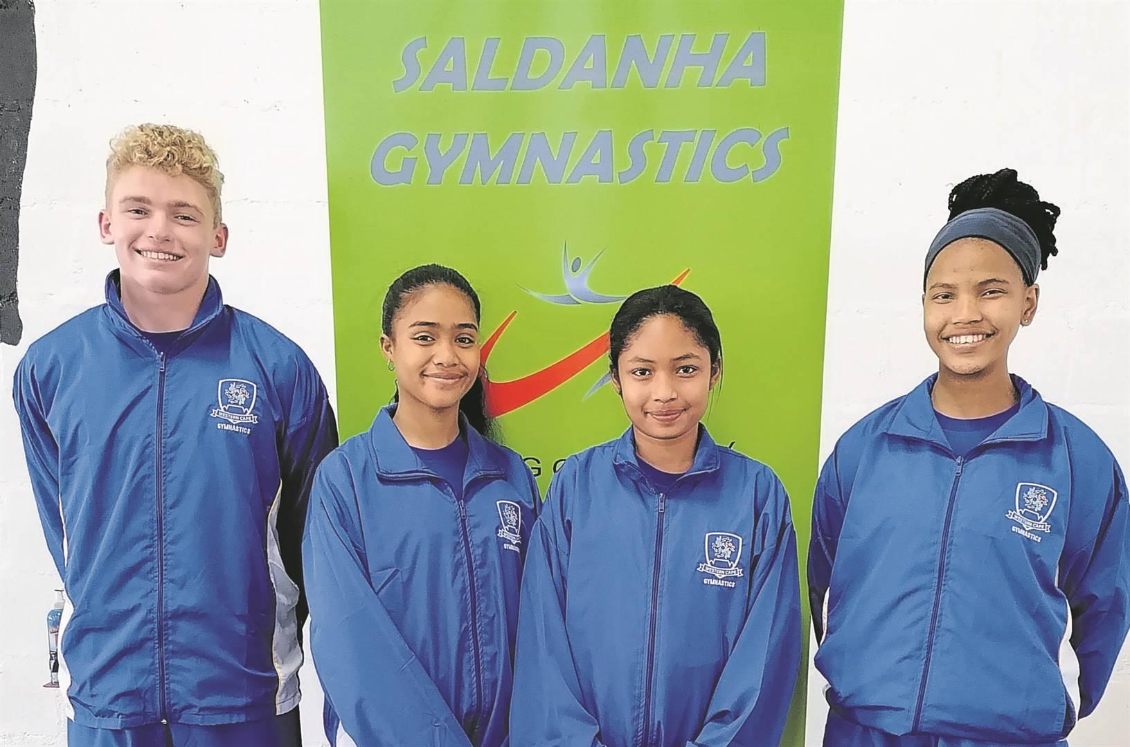 Gymnasts Jannich Bezuidenhout, Tashnique Jones, Kaylin Agulhas and Amy Van Rooyen.Foto: