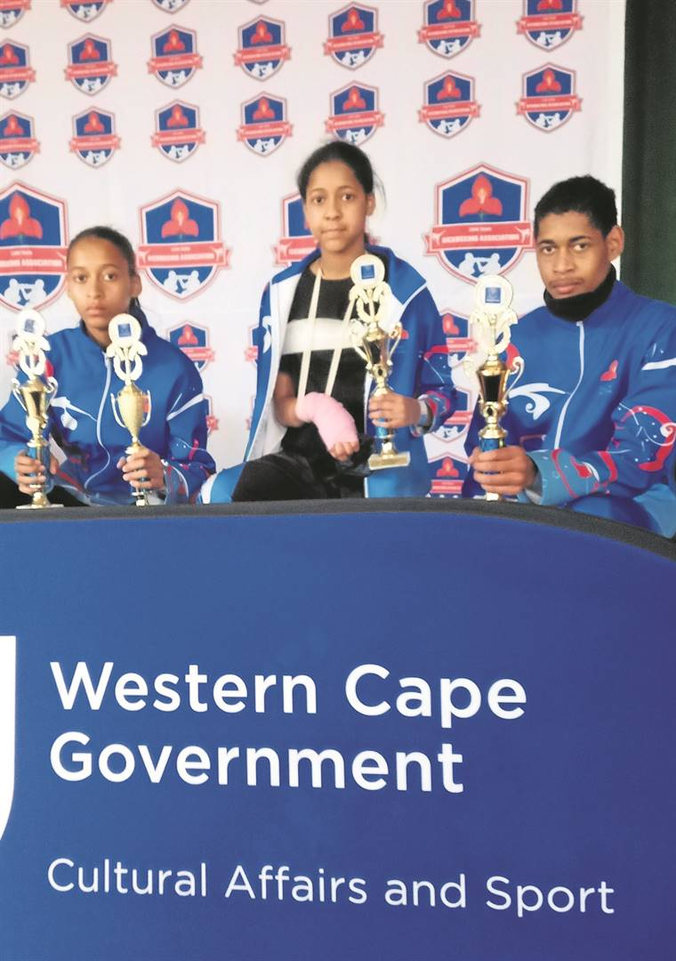 The kickboxing Singh-Yadav siblings from Gordon's Bay again performed well at the 2021 Western Cape Kickboxing Championships at the Bergvliet Sports Centre in Bergvliet at the weekend. From left: Riyaa won two gold medals, Tanya claimed gold and bronze, and Sidarth picked up gold and silver.