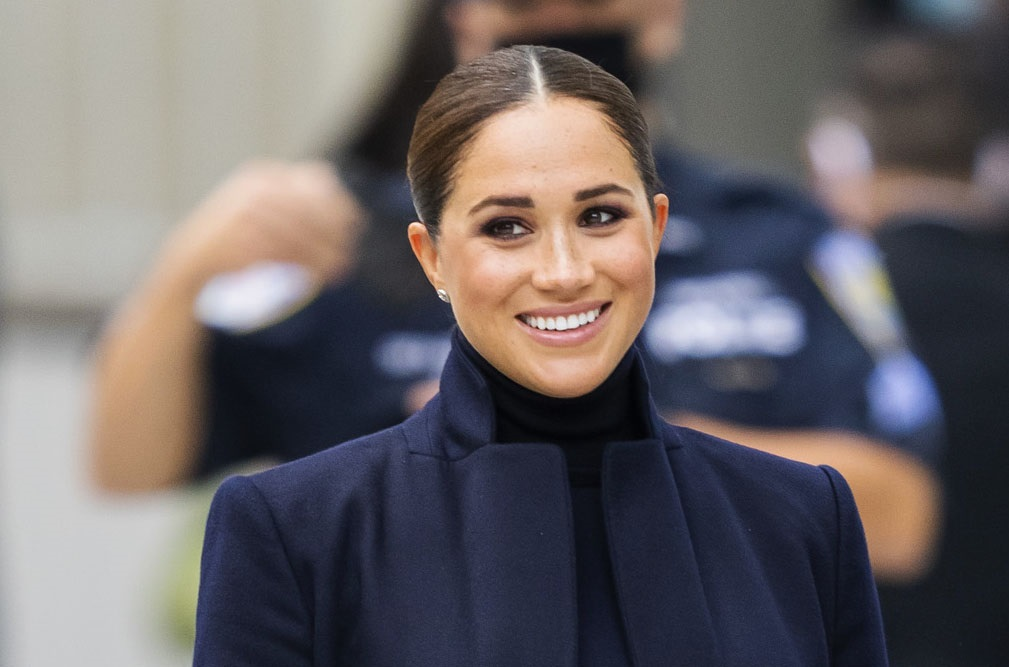 Meghan Markle, Duchess of Sussex seen at the World Trade Center in New York City. (Photo by Gotham/GC Images)