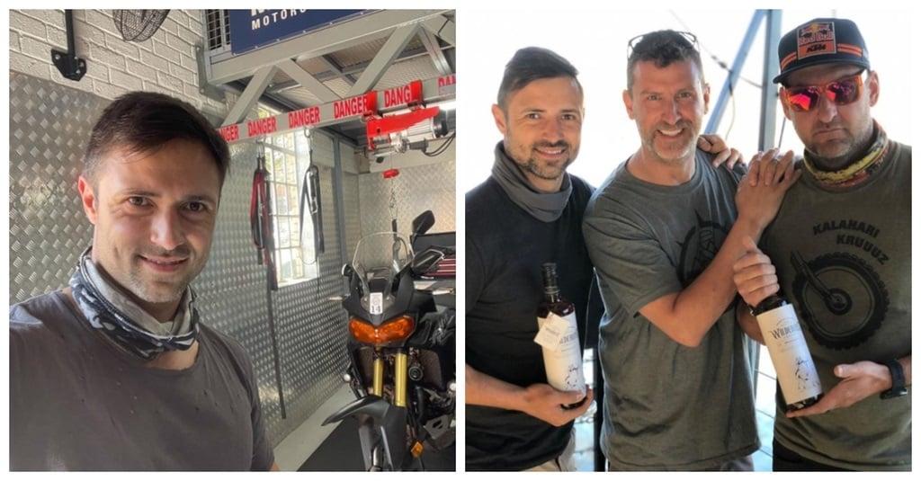 Werner Coetser en sy akteursvriende was op 'n motorfiets-avontuur. Foto: Instagram