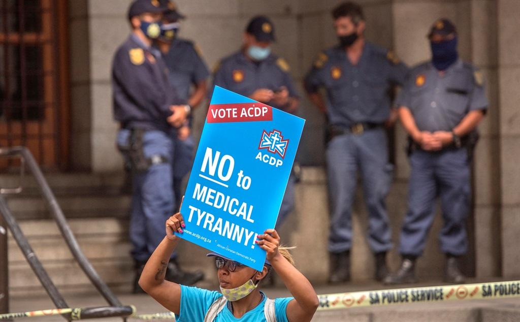 ACDP leads picket outside provincial legislature a