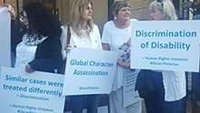 'We believe it was a tragic accident' - Oscar supporters rally outside court