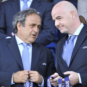 Michel Platini and Gianni Infantino (Getty Images)