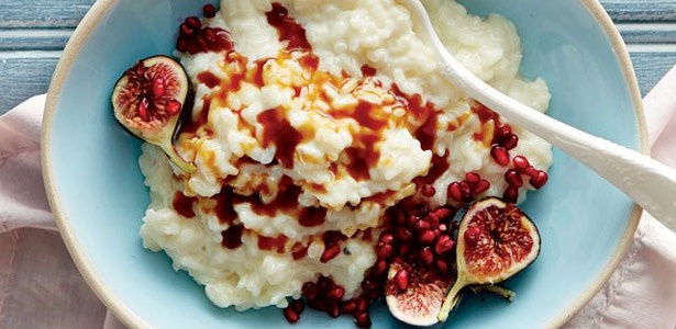 recipe, rice, pudding, toffee, pomegranate,fruit,