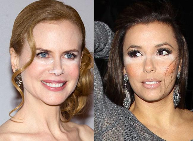 Nicole Kidman Face Work. Nicole Kidman and Eva Longoria