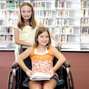 Disabled schoolgirl