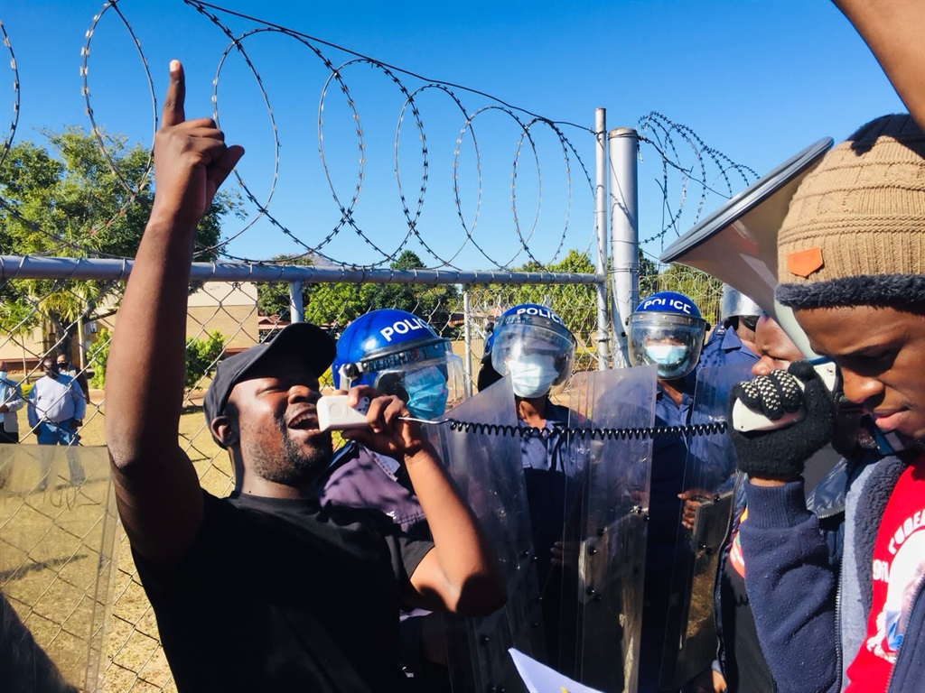 Swaziland National Students' Union in protest