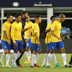 Brazil losing to Peru in Copa (Getty Images)