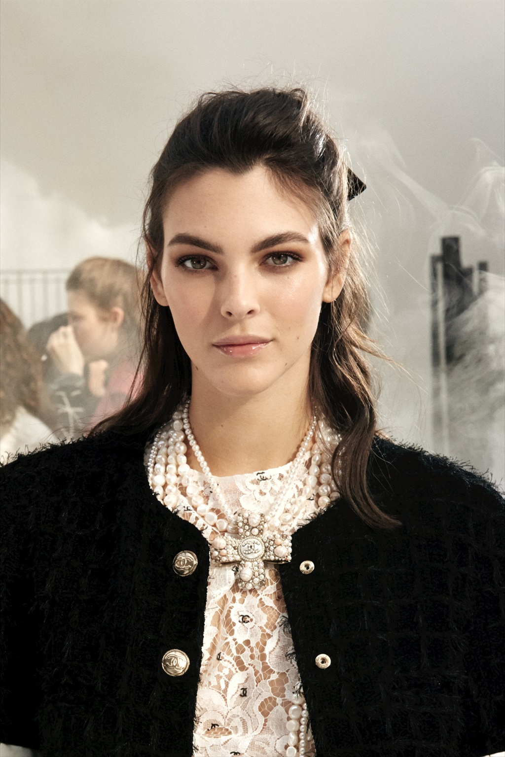 chanel backstage with lucia pica