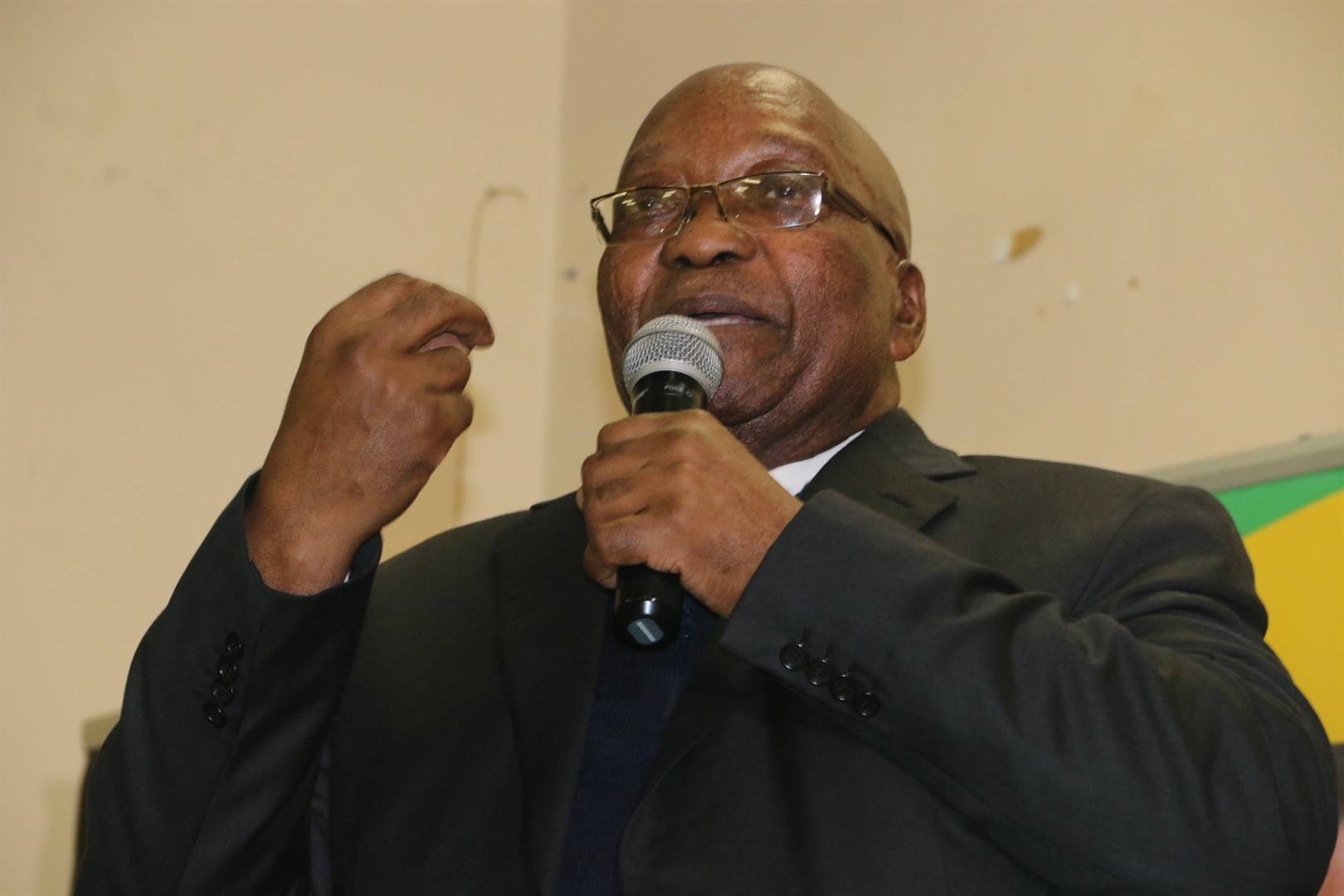 Former president Jacob Zuma addresses community members on the relevance of the ANCYL in today's society. Picture: Palesa Dlamini/City Press