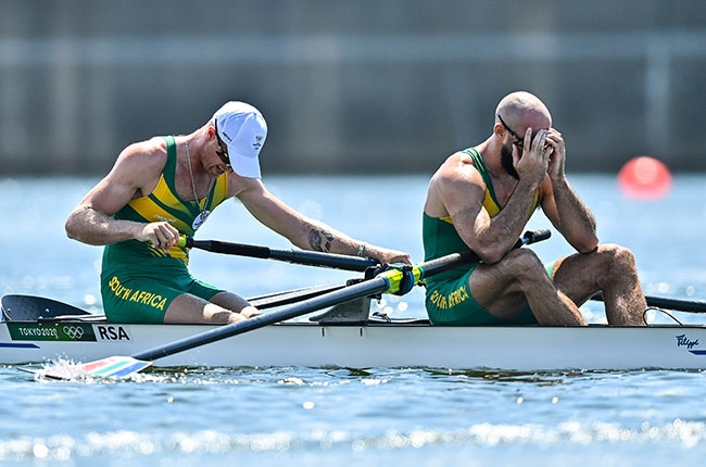 South African rowers Jake Green and Luc Daffarn