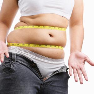 flabby tummy, fat woman