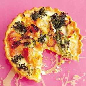 recipe, quiche, broccoli, salmon,light meals