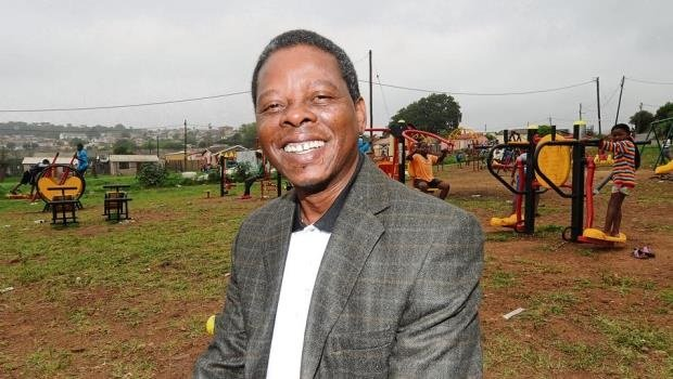 Ward 19 councillor Siphiwe Caiphas Ndawonde, who won the Best Ward Councillor for 2015 at the recent municipal awards, enjoys the recent outdoor gym he championed for the Imbali community.