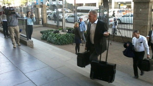 Gerrie Nel has arrived in court (Thomas Hartleb, News24)<br />