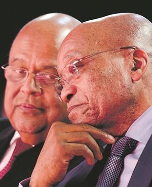 SARS WARS Finance Minister Pravin Gordhan and President Jacob Zuma. Picture: Herman Verwey