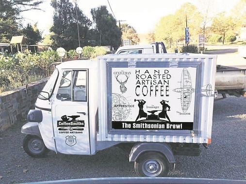 CoffeeSmiths, a well-known coffee shop in the Nottinghsm Road, and their trendy coffee tuk tuk, will be at the Witness Rosetta Craft festival on September 24.