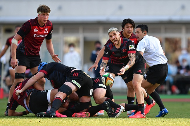 TJ Perenara in action for the NTT Docomo Red Hurricanes. (Photo by Atsushi Tomura/Getty Images)