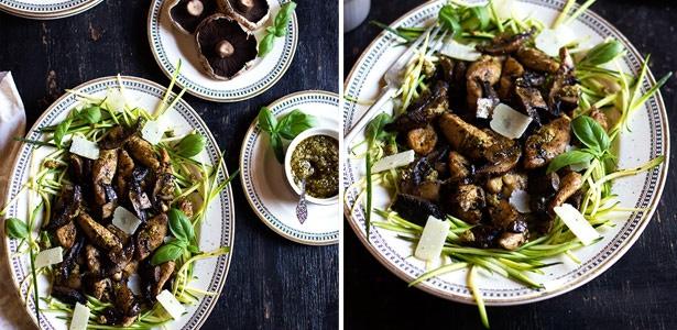 recipe, chicken, mushrooms, zucchini, dinner