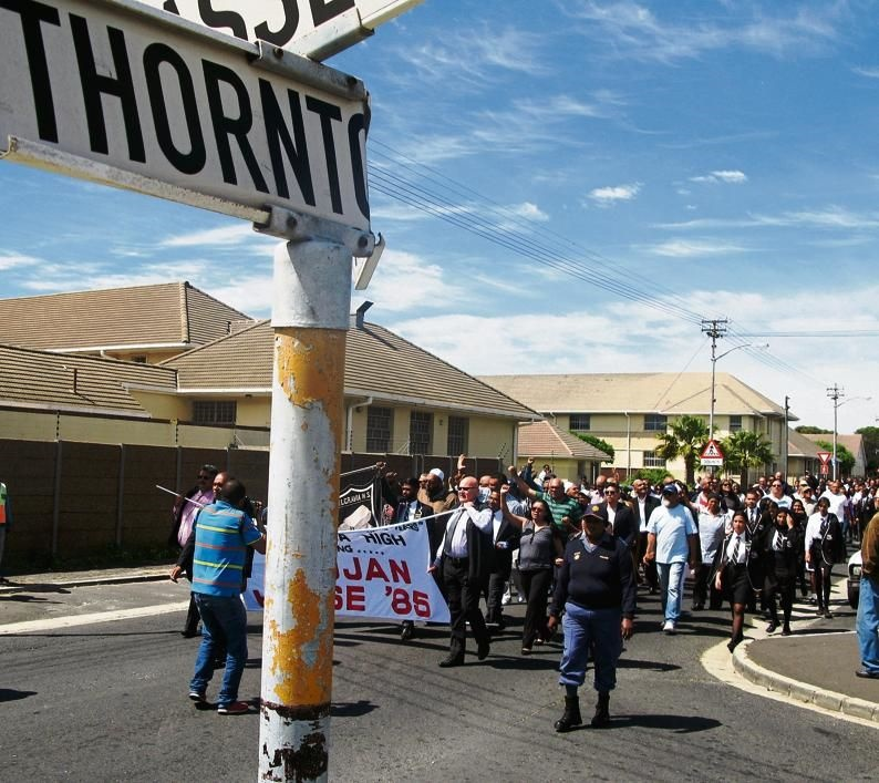 Hundreds of past and present learners and teachers of Belgravia High School and community leaders participated in a peaceful march on Friday to commemorate the Trojan Horse massacre, which happened in Thornton Road 31 years ago.