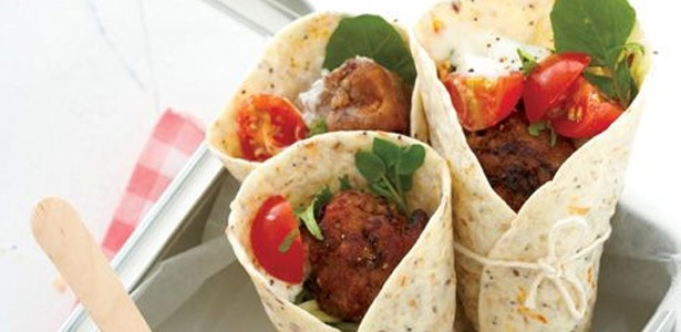 ostrich, frikkadels, arpicots,wraps,recipes