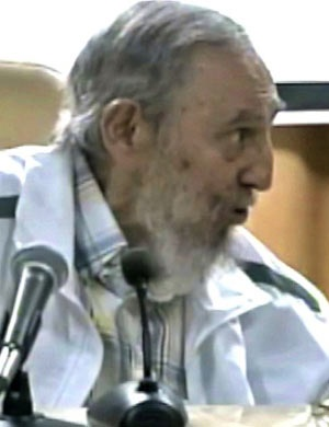 Screen grab from Cubavision showing Cuban former President Fidel Castro. (AFP)