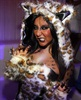 The <i>Jersey Shore</i> star is dressed as some kind of mangy feline. (Photo: WireImage)