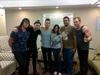 Arthi Singh and her hubby pose with the Parlotones.