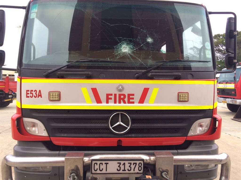 A City of Cape Town fire engine was damaged in Crossroads on Tuesday night.